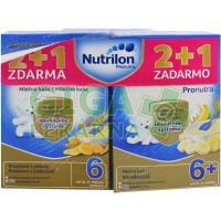 Nutrilon kaše (2+1) Pronutra piškoty 2x + banán 1x