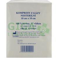 Gáza komprese nesterilní 10x10cm 100ks 8 vrstev