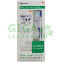 Sensodyne True White Extra Fresh + kartáček MEDIUM