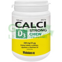 Calci Strong Chew+Vit.D3 120 tablet Vitabalans