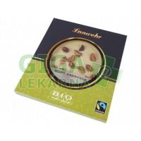 Čokoláda bílá zdobená, divoké arašídy BIO 100g