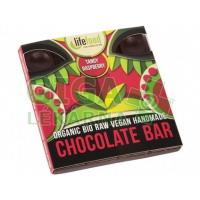 Lifefood Raw čokoláda z nepraženého kakaa BIO malinová 35g