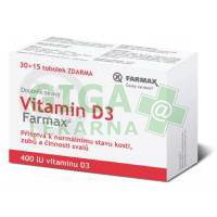 Vitamin D3 tob.30+15 ZDARMA Farmax