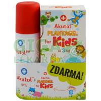 Akutol sprej + Plantagel for kids ZDARMA