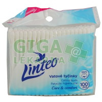 Vatové tyčinky LINTEO Satin 100ks oop (sáček)