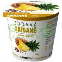 Obezin zdravá snídaně - Ananas a rozinky 68g