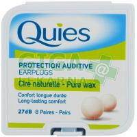 Quies Chrániče sluchu z přírodního vosku (8 párů)