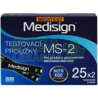 Proužky Testovací Meditest Medisign MS-2 50ks