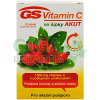 GS Vitamin C 1000 + šípky Akut 10 tablet