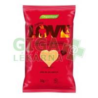 Snack kukuřičný Srdce sýr a jalapeňo BIO 50g Organique
