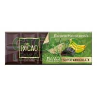 Čokoláda Rocao banán konopné semínko BIO RAW 38g