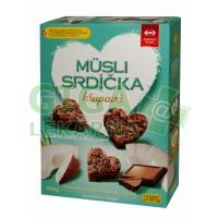 Musli srdíčka křupavá s čokoládou a kokosem 400g Semix