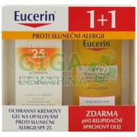 EUCERIN SUN 1+1ZDARMA Gel alergie SPF25+pH5 olej