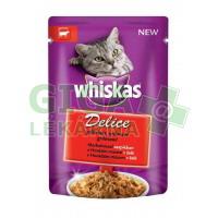 Whiskas kaps. - DELICE grilované s hovězím 85g