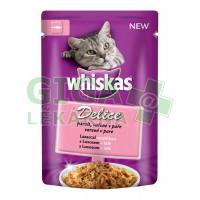 Whiskas kaps. - DELICE vařené v páře s lososem 85g
