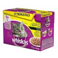 Whiskas kaps. - drůbeží výběr ve šťávě 12x100g