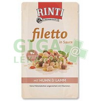 Rinti Filetto dog kaps.- kuře+jehně v omáčce 125g