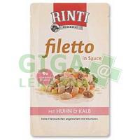 Rinti Filetto dog kaps.- kuře+telecí v omáčce 125g