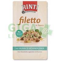 Rinti Filetto dog kaps.- kuře+kuř.játra v omáčce 125g
