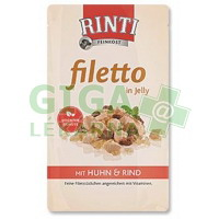 Rinti Filetto dog kaps.- kuře+hovězí v želé 125g