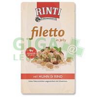 Rinti Filetto dog kaps.- kuře+hovězí v želé 125g