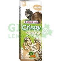 VL Crispy tyč křeček, potkan - rýže, zelenina 2ks, 110g