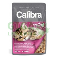 Calibra Cat kaps.- Kitten krůtí a kuřecí v omáčce 100g