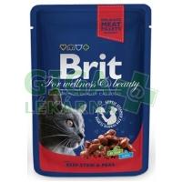 Brit Premium Cat kaps. - Beef Stew & Peas 100g