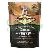 Carnilove Dog Puppy Salm.& Turk. Large Breed GF 1,5kg