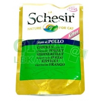 Schesir cat kaps. kitten kuřecí filety 100g