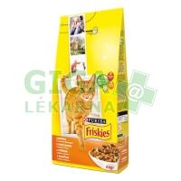 Friskies cat dry - kuře, zelenina 4kg