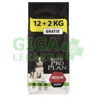 PRO PLAN Puppy Medium 12+2kg zdarma