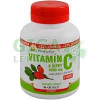 Vitamin C 1000mg šípky prodl.účinek tbl.90+30