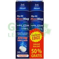 Zdrovit MaxiMag Mg+B6 1+1 (50%gratis druhé balení)  2x20tbl