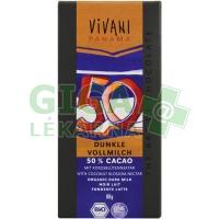 EDIZIONE GRANDE ml.čokoláda s kokos. cukrem VIVANI 80g-BIO