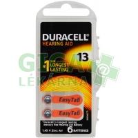 Baterie do naslouchadel Duracell DA13P6 Easy Tab 6ks