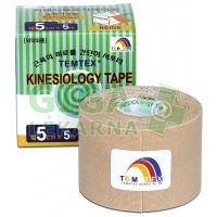 Tejpovací páska TEMTEX kinesiotape béžová 5cm x 5m