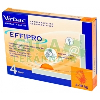Effipro Spot-on Dog S sol 4x0,67ml (oranžový do 10kg)