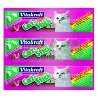 Vitakraft Stick mini cat kachna + králík 3ks