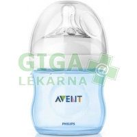 AVENT Láhev 125ml Natural PP modrá 1ks