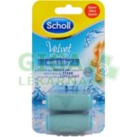 Scholl Velvet Smooth Náhr.hlavice el.pilník do vody Hrubé 2ks