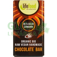 Lifefood Lifefood MINI čokoládka 95% kakao a skořice BIO 15g