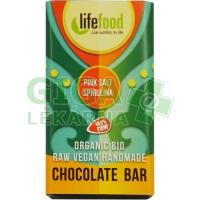 Lifefood Lifefood MINI čokoládka slaná se spirulinou BIO 15g