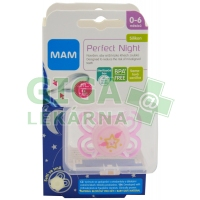 MAM Dudlík Perfect Night 0-6 měsíců silikon 1ks