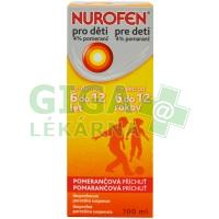 Nurofen sirup pro děti od 6 do 12 let 100ml pomeranč