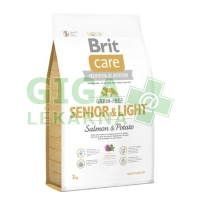 Brit Care Grain Free Dog Senior&Light S & P 3kg