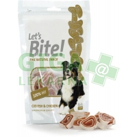 Brit Care DOG Let´s Bite! Cod fish & chicken 80g