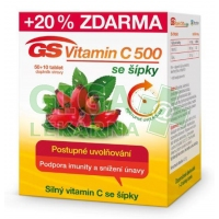 GS Vitamin C500 + šípky 50+10 tablet 2016