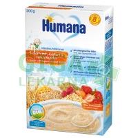 Humana ml.kaše vícezrnná Jogurt+jahody+maliny 200g