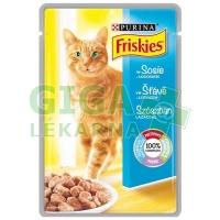 Friskies cat kaps. ve šťávě s lososem 100g
